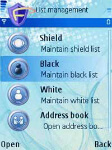 Maintain shield, black and white lists, view address book
